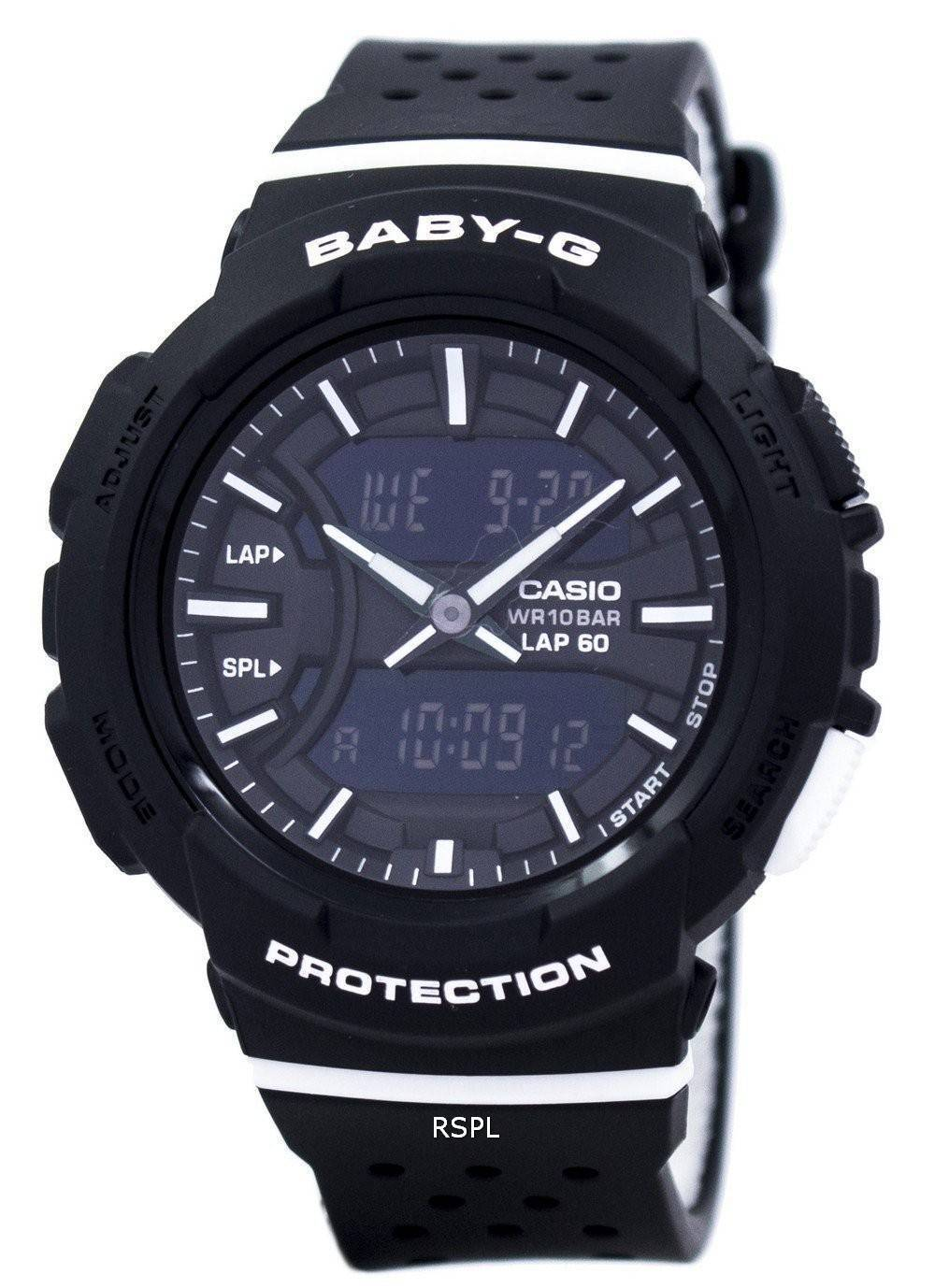 Tag Watches For Sale >> Casio Baby-G Shock Resistant Dual Time Analog Digital BGA-240-1A1 Women's Watch - CityWatches.co.nz
