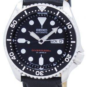 Seiko Automatic Diver's Ratio Black Leather SKX007J1-LS10 200M Men's Watch