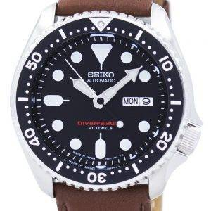 Seiko Automatic Diver's Ratio Brown Leather SKX007J1-LS12 200M Men's Watch