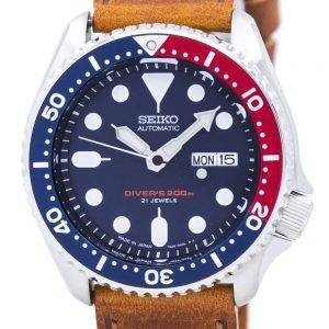 Seiko Automatic Diver's Ratio Brown Leather SKX009J1-LS9 200M Men's Watch