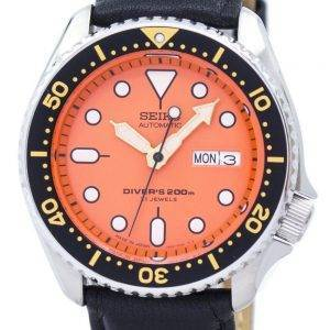 Seiko Automatic Diver's Ratio Black Leather SKX011J1-LS10 200M Men's Watch