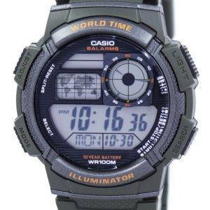 Casio Illuminator World Time Alarm Digital AE-1000W-3AV Men's Watch