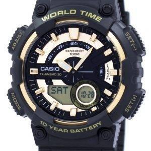 Casio Youth Series Telememo 30 World Time Alarm AEQ-110BW-9AV Men's Watch