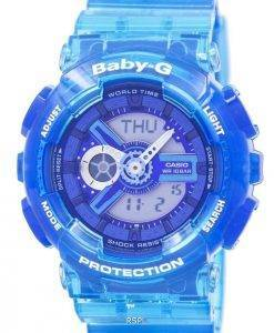 Casio Baby-G Shock Resistant World Time Analog Digital BA-110JM-2A Women's Watch
