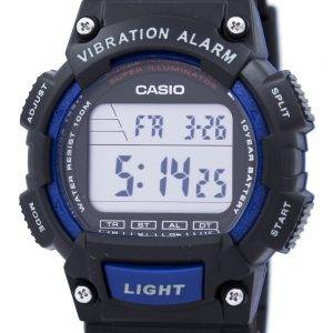 Casio Super Illuminator Dual Time Vibration Alarm Digital W-736H-2AV Men's Watch
