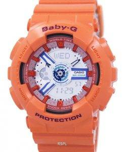 Casio Baby-G World Time Shock Resistant Analog Digital BA-110SN-4A Women's Watch