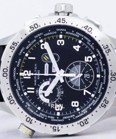 Hamilton Khaki Aviation Worldtimer Chrono Quartz H76714735 Men's Watch