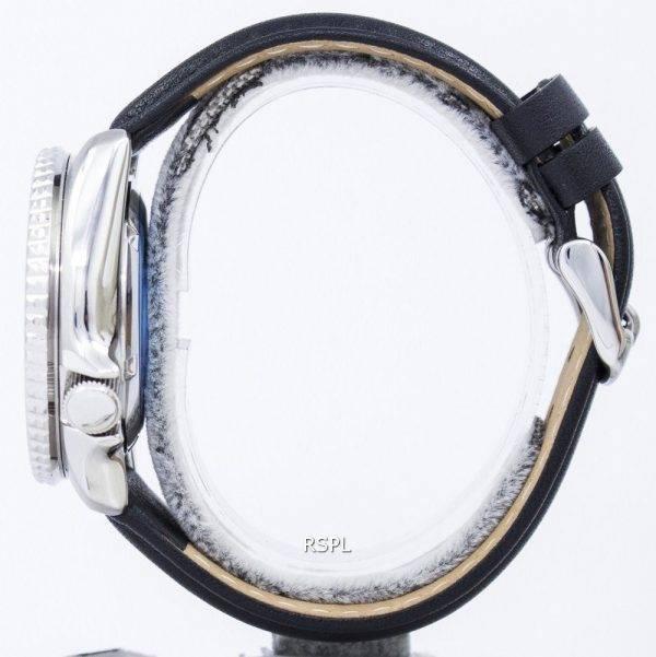 Seiko Automatic Diver's Ratio Black Leather SKX011J1-LS10 200M Men's Watch