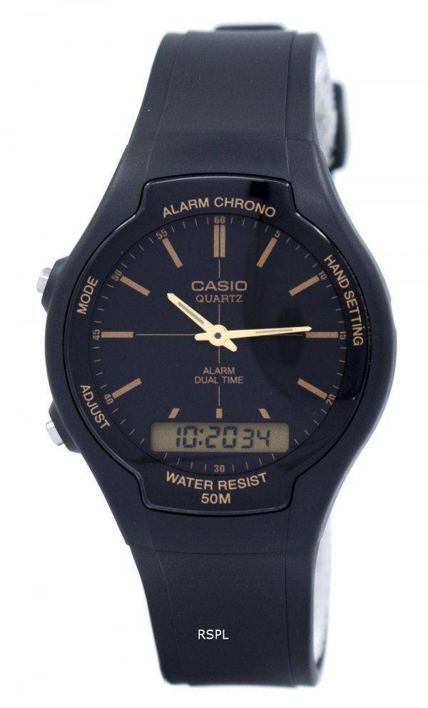 Casio Alarm Chrono Dual Time Quartz AW-90H-9EVDF AW90H-9EVDF Men's Watch