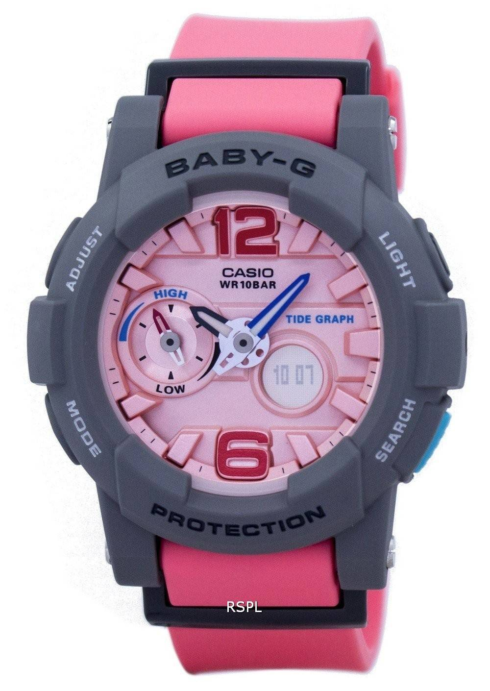 Casio Baby-G Tide Graph Analog Digital BGA-180-4B2 BGA180-4B2 ... 48f90b9cc4be