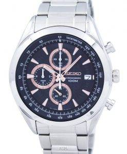 Seiko Chronograph Quartz Tachymeter SSB199 SSB199P1 SSB199P Men's Watch