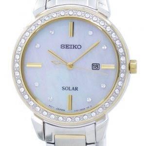 Seiko Solar Diamond Accent SUT328 SUT328P1 SUT328P Women's Watch