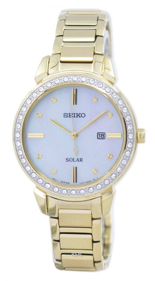 Seiko Solar Diamond Accent SUT330 SUT330P1 SUT330P Women's Watch