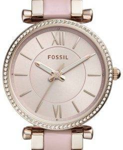 Fossil Carlie Quartz Diamond Accent ES4346 Women's Watch