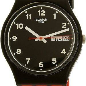 Swatch Originals Red Grin Quartz GB754 Unisex Watch