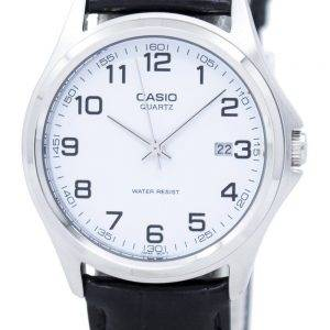 Casio Quartz Analog White Dial Black Leather MTP-1183E-7BDF MTP-1183E-7B Mens Watch
