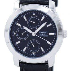 Casio Enticer Quartz Multi Dial Leather Strap MTP-1192E-1ADF MTP-1192E-1A Mens Watch