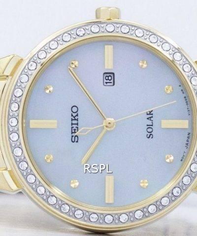 Seiko Solar Diamond Accent SUT330 SUT330P1 SUT330P Women's Watch