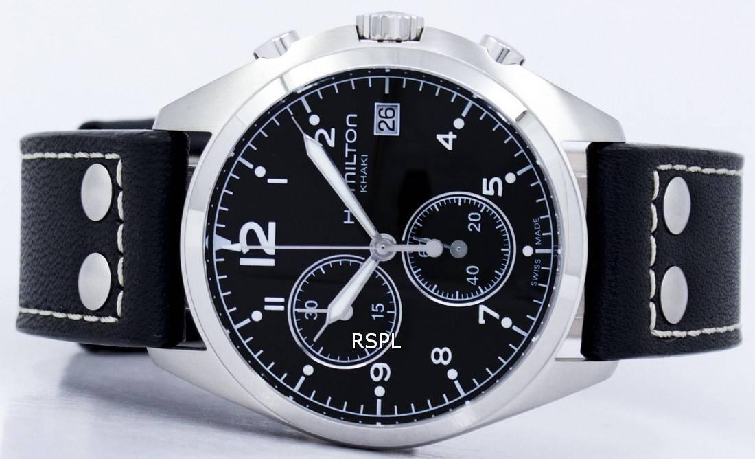 a51c37a66 Hamilton Khaki Aviation Pilot Pioneer Chrono Quartz H76512733 Men's Watch