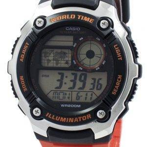 Casio Youth Illuminator World Time Digital AE-2100W-4AV AE2100W-4AV Men's Watch