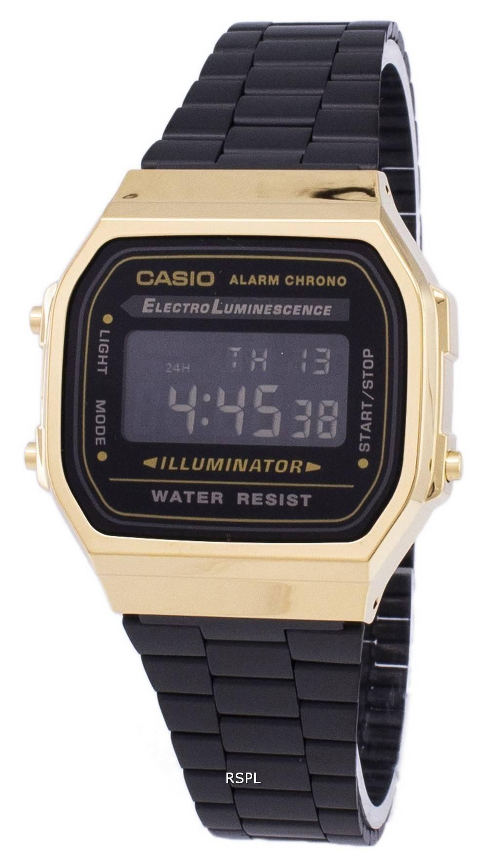 7a41e5c221f6 Casio Vintage Chronograph Alarm Digital A168WEGB-1B Unisex Watch ...