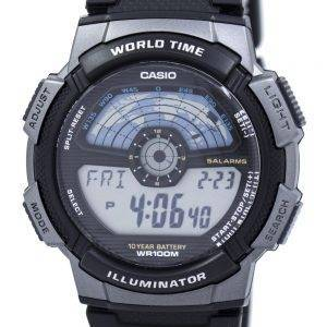 Casio Youth Digital Illuminator World Time AE-1100W-1AV Mens Watch