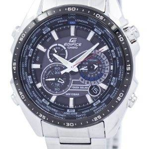 Casio Edifice Tough Solar Chronograph World Time EQS-500DB-1A1 EQS500DB-1A1 Men's Watch