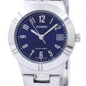 Casio Analog Quartz Blue Dial LTP-1241D-2A2DF LTP-1241D-2A2 Womens Watch
