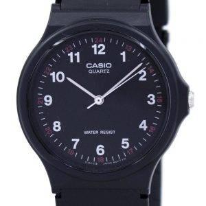 Casio Classic Analog Quartz Black Resin MQ-24-1BLDF MQ-24-1BL Mens Watch