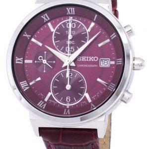 Seiko Chronograph Quartz SNDV37 SNDV37P1 SNDV37P Women's Watch