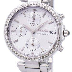 Seiko Chronograph Quartz Diamond Accent SNDV41 SNDV41P1 SNDV41P Women's Watch