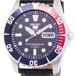 Seiko 5 Sports Automatic Ratio Black Leather SNZF15K1-LS10 Men's Watch