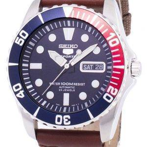 Seiko 5 Sports Automatic Canvas Strap SNZF15K1-NS1 Men's Watch