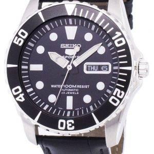 Seiko 5 Sports Automatic Ratio Black Leather SNZF17K1-LS6 Men's Watch