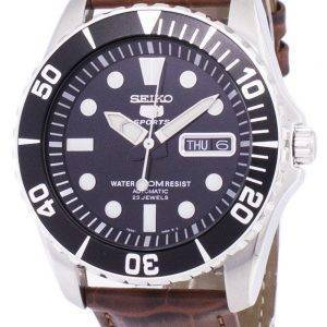 Seiko 5 Sports Automatic Ratio Brown Leather SNZF17K1-LS7 Men's Watch