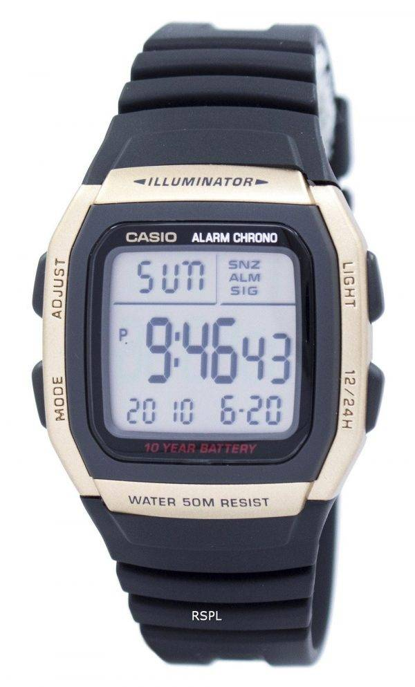 Casio Youth Illuminator Dual Time Alarm Chrono W-96H-9AVDF W96H-9AVDF Men's Watch
