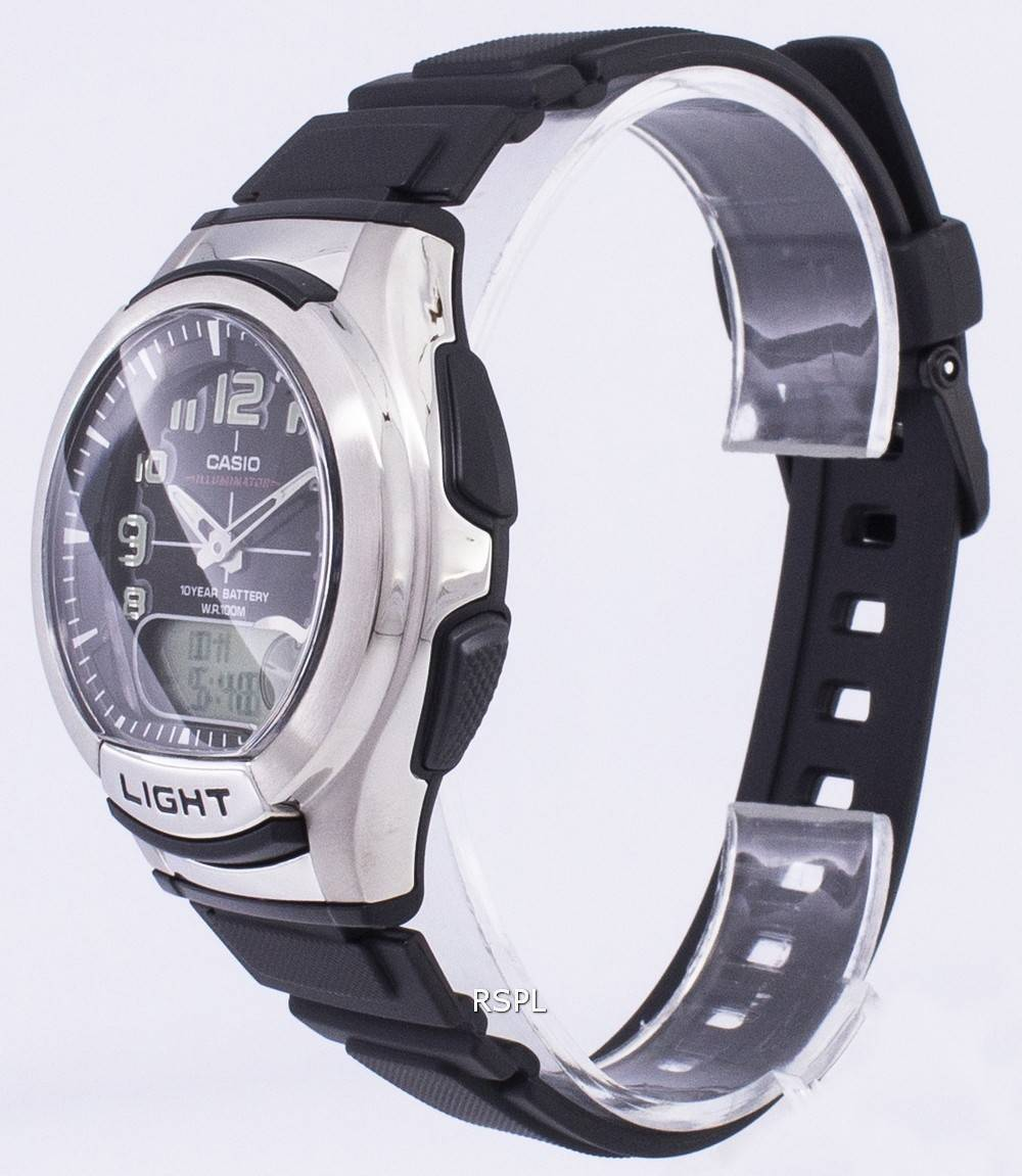 Casio Analog Digital Illuminator Telememo AQ-180W-1BVDF AQ ...