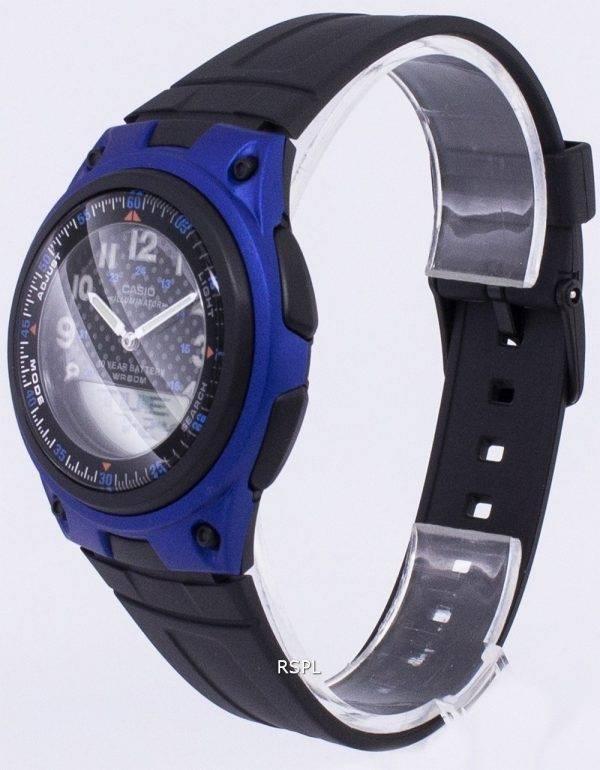 Casio Analog Digital  Illuminator Telememo BlackBlue AW-80-2BVDF AW-80-2BV Mens Watch