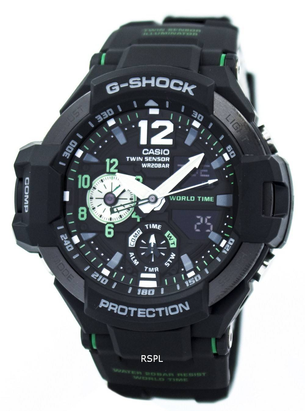 how to change time on g shock twin sensor