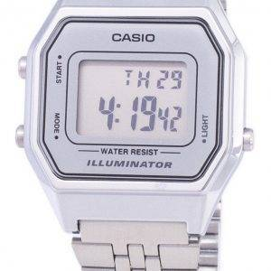 Casio Digital Quartz Stainless Steel Illuminator LA680WA-7DF LA680WA-7 Womens Watch
