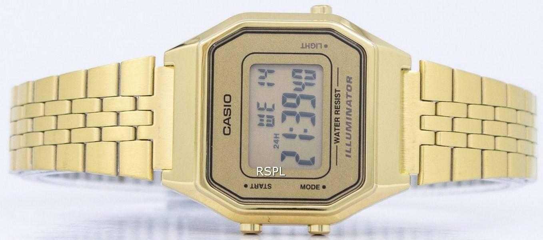 5b819ffb5 Casio Digital Quartz Stainless Steel Illuminator LA680WGA-9DF LA680WGA-9 Womens  Watch