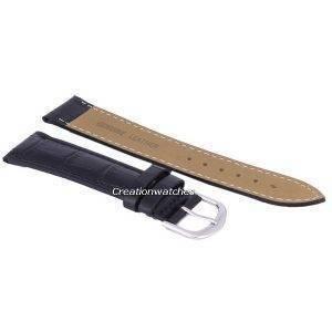 Black Ratio Brand Leather Strap 20mm