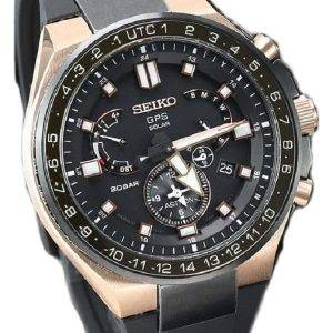 Seiko Astron SBXB170 GPS Solar Dual Time Power Reserve 200M Men's Watch