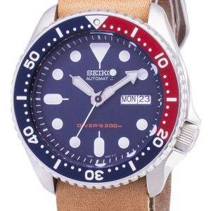 Seiko Automatic SKX009K1-LS18 Diver's 200M Brown Leather Strap Men's Watch