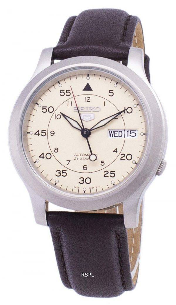 Seiko 5 Military SNK803K2-SS4 Automatic Brown Leather Strap Men's Watch