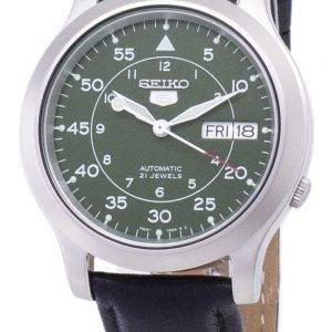 Seiko 5 Military SNK805K2-SS3 Automatic Black Leather Strap Men's Watch