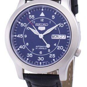 Seiko 5 Military SNK807K2-SS1 Automatic Black Leather Strap Men's Watch