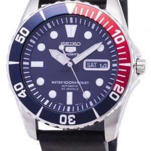 Seiko 5 Sports SNZF15K1-LS14 Automatic Black Leather Strap Men's Watch
