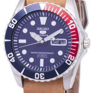 Seiko 5 Sports SNZF15K1-LS18 Automatic Brown Leather Strap Men's Watch