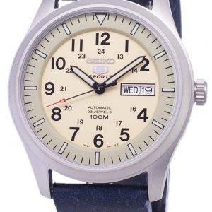 Seiko 5 Sports SNZG07K1-LS15 Automatic Dark Blue Leather Strap Men's Watch